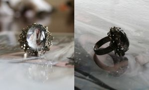 Queen of Winter Art Ring by IdaLarsenArt