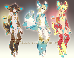 Auction : Lightring Species Set 1 [CLOSED] by HyRei