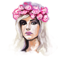 Lana del Ray  with speed paint video by minoanoa
