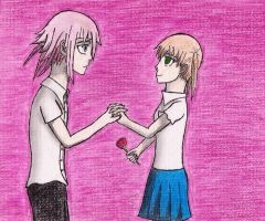 Crona x Maka by DemonMew