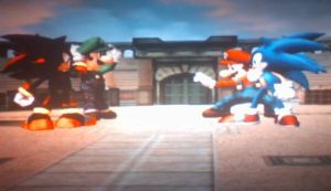 Shadow Luigi Vs. Sonic Mario by sonicfan40