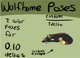 Cheap wolfhome poses! by SableKyatt