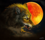 .: Bloody Moon :. by WhiteSpiritWolf