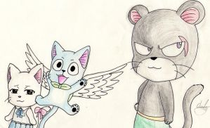 Happy, Charla and Pantherlily by Animal-Cartoonist140
