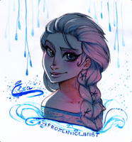 Frozen: Elsa's Crystal Drops by ZARINAABZALILOVA