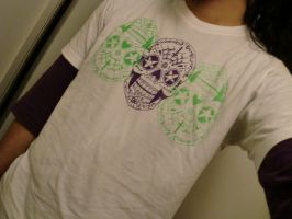 sugar skull T-shirt by EYERUS