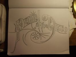Panic! At The Disco lettering by peanuty222