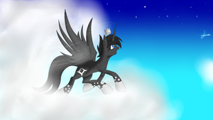 Ebony Takes Flight by Mystic-L1ght