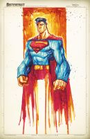 Superman Saucy Sketch by RobDuenas
