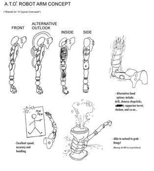 A.T.O. Robot Arm Concept by Largon93