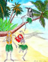 Skeletons on the Beach by HappyRaincloud