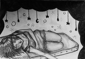 Sleep beneath a starry sky. by captainwonderpanties