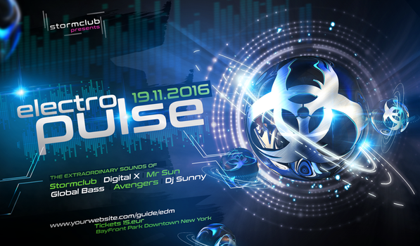 Electro-House-Flyer- by stormclub