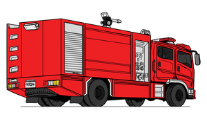 Mitsubishi Fuso - Thai fire truck by VachalenXEON
