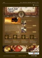Antique Store Website by kn33cow