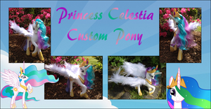 My Little Pony - Princess Celestia Custom white by Asukatze