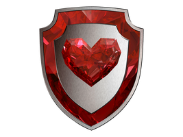 Crystal Heart Shield - EXTRAS RED by SwedishRoyalGuard