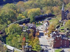 CSX Harpers Ferry by bobrr