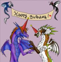 Dragons party by Lucie-P