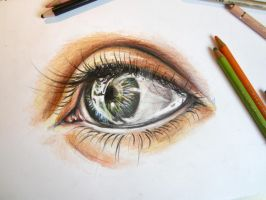 Study: Eye in colour by bleistiftkind