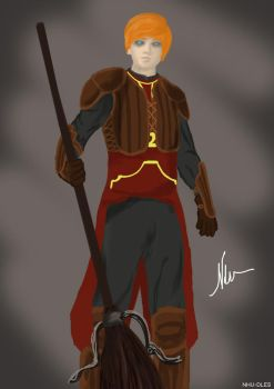 Quidditch Uniform - Ron Weasley by nhu-dles
