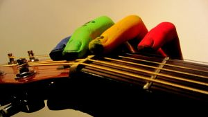 Colourful Guitar by 00Kathi