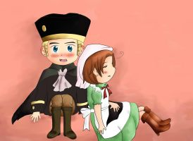 Chibitalia and Holy Roman Empire by stateofgrace01