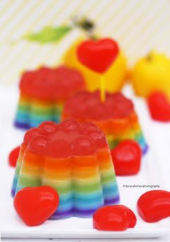 Good Ol Lemon Rainbow Jello by theresahelmer