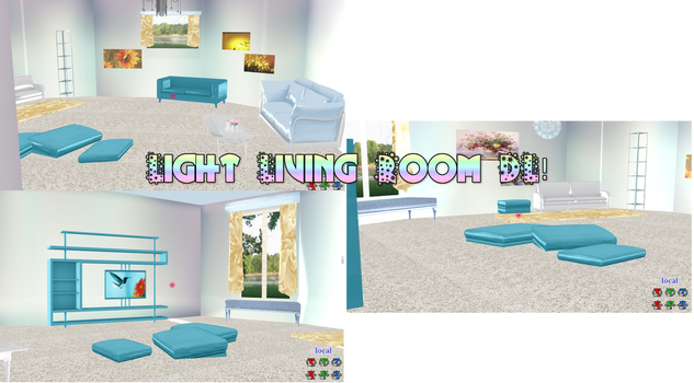 [MMD Room] Light Living Room DL by DeidaraChanHeart