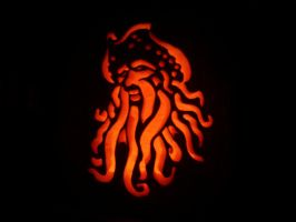 Davy Jones Pumpkin by scottalynch