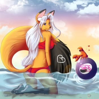Foxy in Summertime fun Contest~ by Line-arts