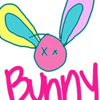 Bunny Drawing by bethrainbow