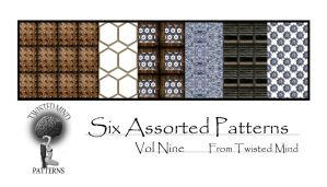 Twisted Mind Six Assorted Patterns Vol Nine by Textures-and-More