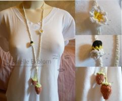 Strawberry necklace by estelleem