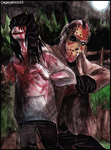 Jeff the Killer vs Jason Voorhees by Cageyshick05