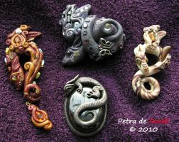 More Dragon Pendants by spaceship505