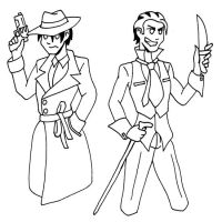Dwight and Leverett by strangefour