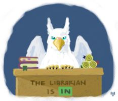 The Librarian is IN by Gryphon-HB