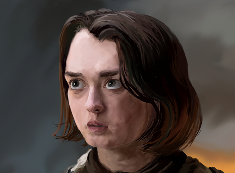 Practice - Arya Stark by WhisperingFurry