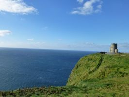 Cliffs of Moher Tower by hollalaya