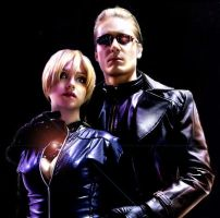 Albert Wesker and Jill Valentine by RainStillnight