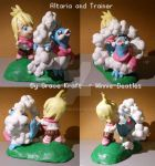 Altaria and Trainer Figure by Porcubird