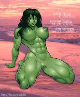She-Hulk Nude by Felsus by elee0228