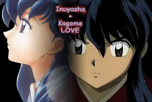 inuyasha + kagome love by Renchee