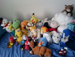 All of my plushies ^_^ by RedshiftTheFox