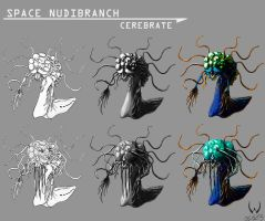 Space Nudibranchs Cerebrate by LordDracoArgentos