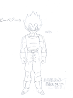 New DBGT - Baby Vegeta Sketch by CAR-TACO