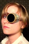 SOLD Silver-brass monogoggle by mad-artisans