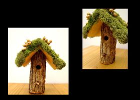 Mos Covered Bird House by Lostfiniel