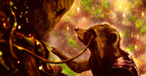 We are Groot by p1xer